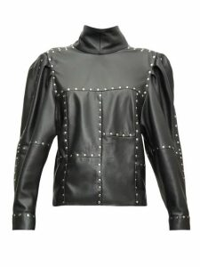 Isabel Marant - Veneza Studded Leather Top - Womens - Black
