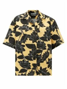 Jacquemus - Vallena Floral-print Shirt - Womens - Black Yellow