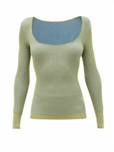 Jacquemus - Rosa Scoop-neck Ribbed-jersey Sweater - Womens - Khaki