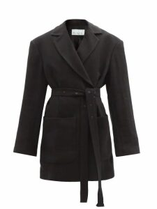 Raey - Oversized Belted Cotton-blend Jacket - Womens - Black