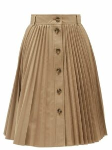 REDValentino - Buttoned Pleated Skirt - Womens - Beige