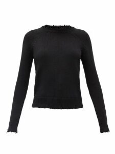 Saint Laurent - Laddered Cotton Sweater - Womens - Black