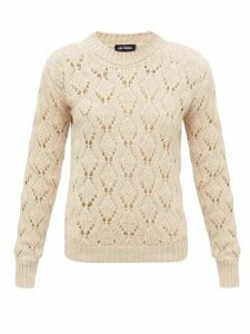 Raf Simons - Pointelle Alpaca-blend Sweater - Womens - Beige