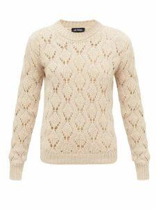 Raf Simons - Pointelle Alpaca-blend Sweater - Womens - Beige