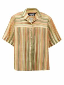 Jacquemus - Vallena Striped Shirt - Womens - Green Multi