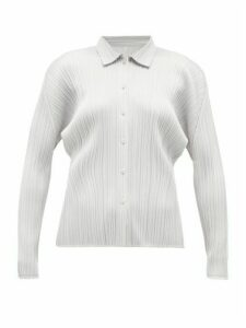 Pleats Please Issey Miyake - Technical-pleated Shirt - Womens - Light Grey