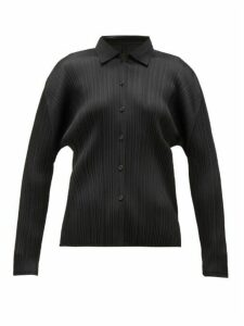 Pleats Please Issey Miyake - Technical-pleated Shirt - Womens - Black