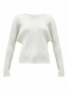 Pleats Please Issey Miyake - Mellow Technical-pleated Top - Womens - White