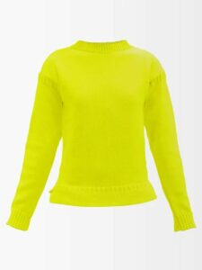 Raey - Long-sleeved Wool-jersey T-shirt - Womens - Black