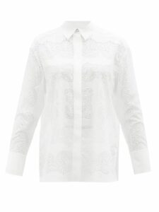 Isabel Marant - Pilen Striped Hooded Cotton-blend Poncho - Womens - White Multi