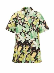 Fendi - Double-breasted Dream Garden-print Cotton Shirt - Womens - Black Print