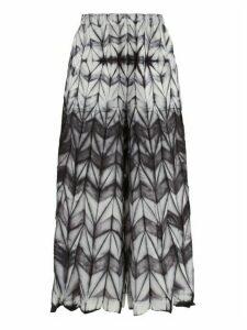 Issey Miyake - Itajime Shibori-dyed Wide-leg Trousers - Womens - Black White