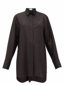 Jil Sander - Tuesday P.m. Oversized Silk-poplin Shirt - Womens - Black