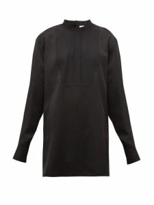 Jil Sander - Thursday P.m. Bib-front Satin Shirt - Womens - Black