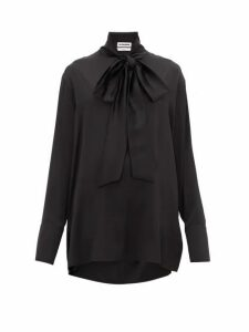 Jil Sander - Friday P.m. Pussy-bow Silk Shirt - Womens - Black