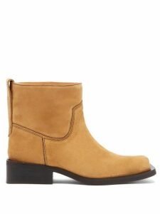 Ganni - Low Mc Suede Ankle Boots - Womens - Beige
