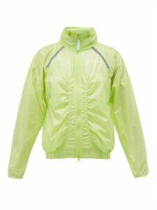 Adidas By Stella Mccartney - Lightweight Zip-through Waterproof Jacket - Womens - Green