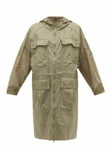 Adidas By Stella Mccartney - Longline Soft-shell Hooded Jacket - Womens - Brown