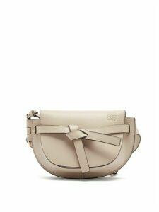 Loewe - Gate Mini Leather Belt Bag - Womens - Grey
