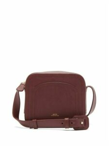 A.P.C. - Louisette Smooth-leather Cross-body Bag - Womens - Burgundy