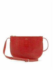 A.P.C. - Maelys Lizard-effect Leather Cross-body Bag - Womens - Red