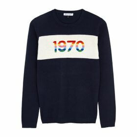 BELLA FREUD 1970 Navy Cashmere-blend Jumper
