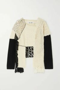 McQ Alexander McQueen - Asymmetric Patchwork Cotton, Alpaca And Wool-blend Sweater - Ecru