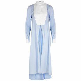 Loewe Light Blue Striped Cotton Shirt