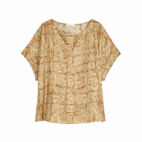 THE ROW Lylia Printed Silk Blouse