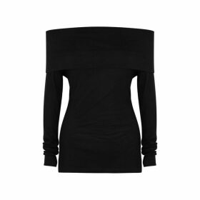 Ninety Percent Black Off-the-shoulder Tencel Top