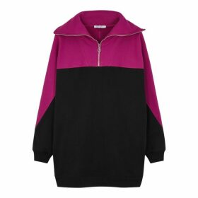 Ninety Percent Panelled Half-zip Organic Cotton Sweatshirt