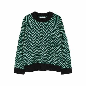 Ninety Percent Green Herringbone-knit Jumper