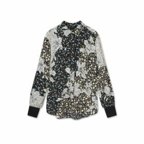 Jigsaw Floral Collage Silk Blouse