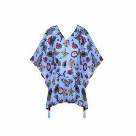 STUDIO MYR - Knitted Knee Length Pencil Skirt In Pieds-De-Poule Pattern Tweed-Moss