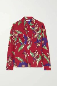 RE/DONE - Floral-print Poplin Shirt - Red