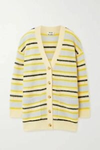 Acne Studios - Keda Striped Knitted Cardigan - Yellow