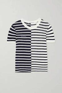 alexanderwang.t - Striped Slub Jersey T-shirt - Ivory