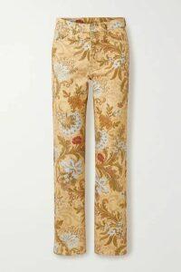 Dries Van Noten - Piscos Cotton-jacquard Straight-leg Pants - Beige
