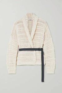 Brunello Cucinelli - Belted Cotton Cardigan - Ivory