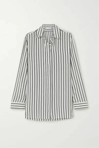 The Row - Big Sisea Striped Silk Shirt - White