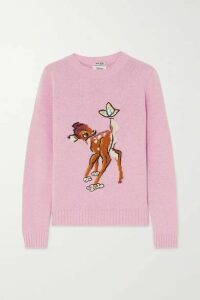 Miu Miu - + Disney Intarsia Wool Sweater - Pink