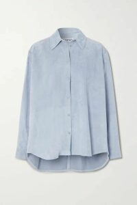 Loewe - Oversized Suede Shirt - Blue