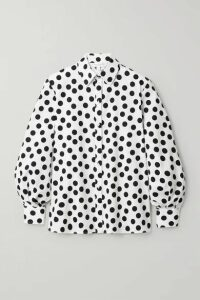 Carolina Herrera - Polka-dot Cotton-blend Poplin Shirt - White