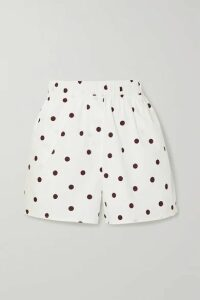 GANNI - Polka-dot Cotton-poplin Shorts - White