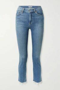 GRLFRND - Reed Frayed Cropped High-rise Slim-fit Jeans - Mid denim