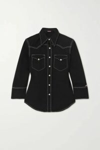 Denimist - Shrunken Cowboy Cotton-twill Shirt - Black