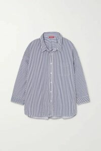 Denimist - Striped Cotton Shirt - Navy