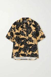 Jacquemus - Vallena Printed Linen And Cotton-blend Shirt - Black