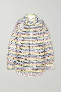 Ashish - Oversized Sequin-embellished Cotton-poplin Shirt - White