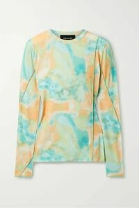 Andersson Bell - Paneled Tye-dyed Jersey Top - Mint